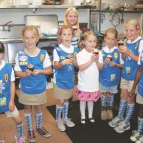 Kids at Sweet arleens bakery shop