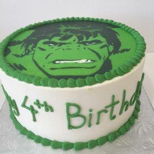 Hulk Birthday Cake