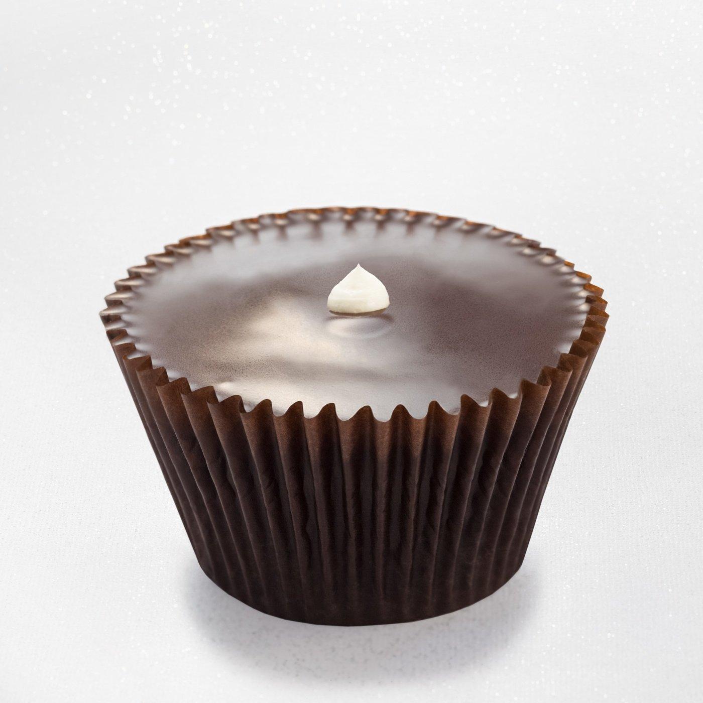 Chocolate cupcake with marshmallow cream