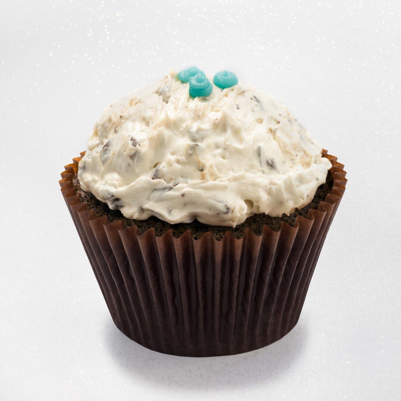 Chocolate mascarpone - cupcake with mascarpone mousse