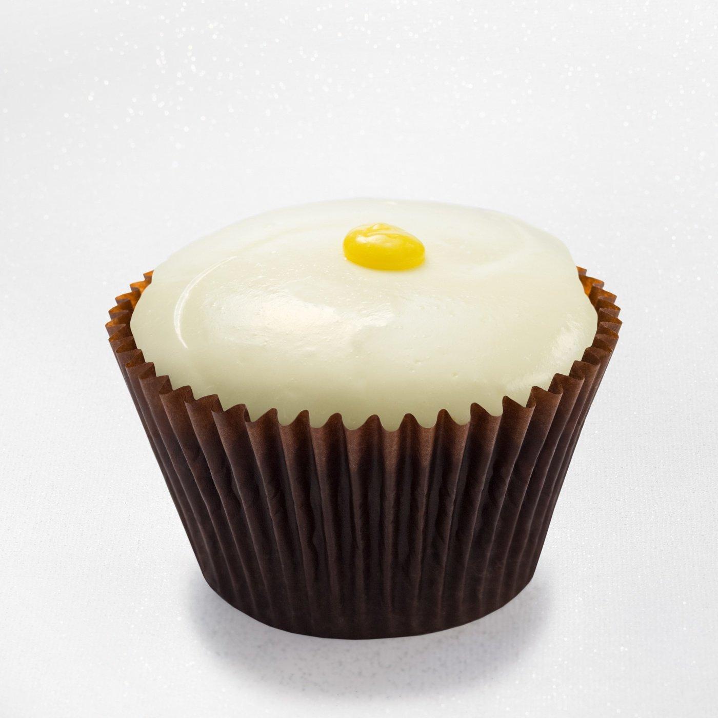 Lemon cupcake with lemon cream