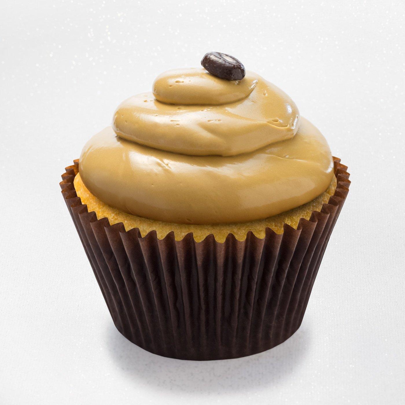 Mocha truffle - vanilla cupcake with chocolate fudge