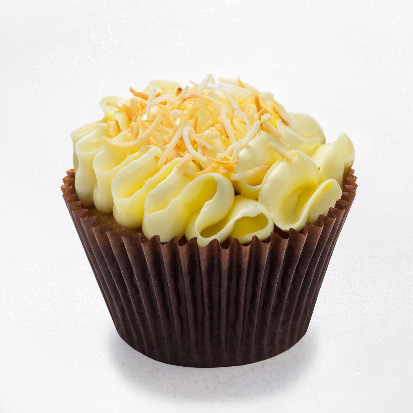Pina colada - caramelized pineapple cupcake