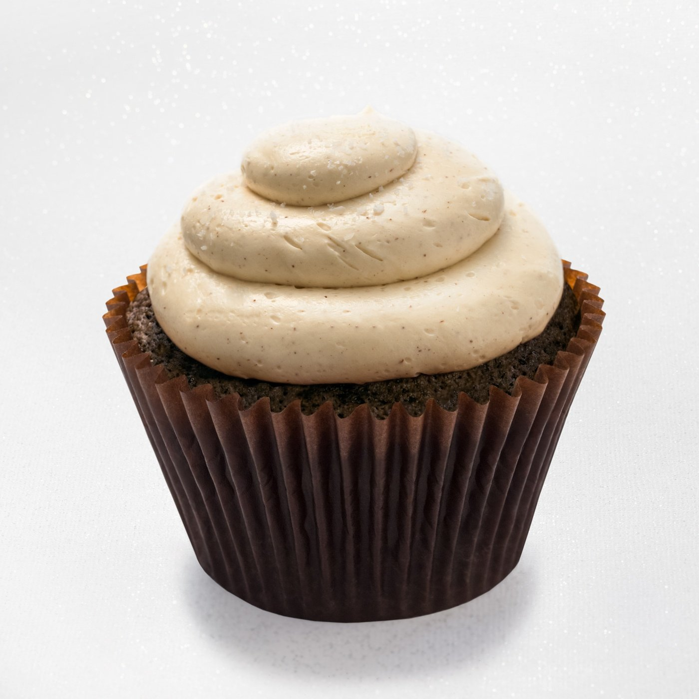 Salted caramel brownie - brownie cupcake