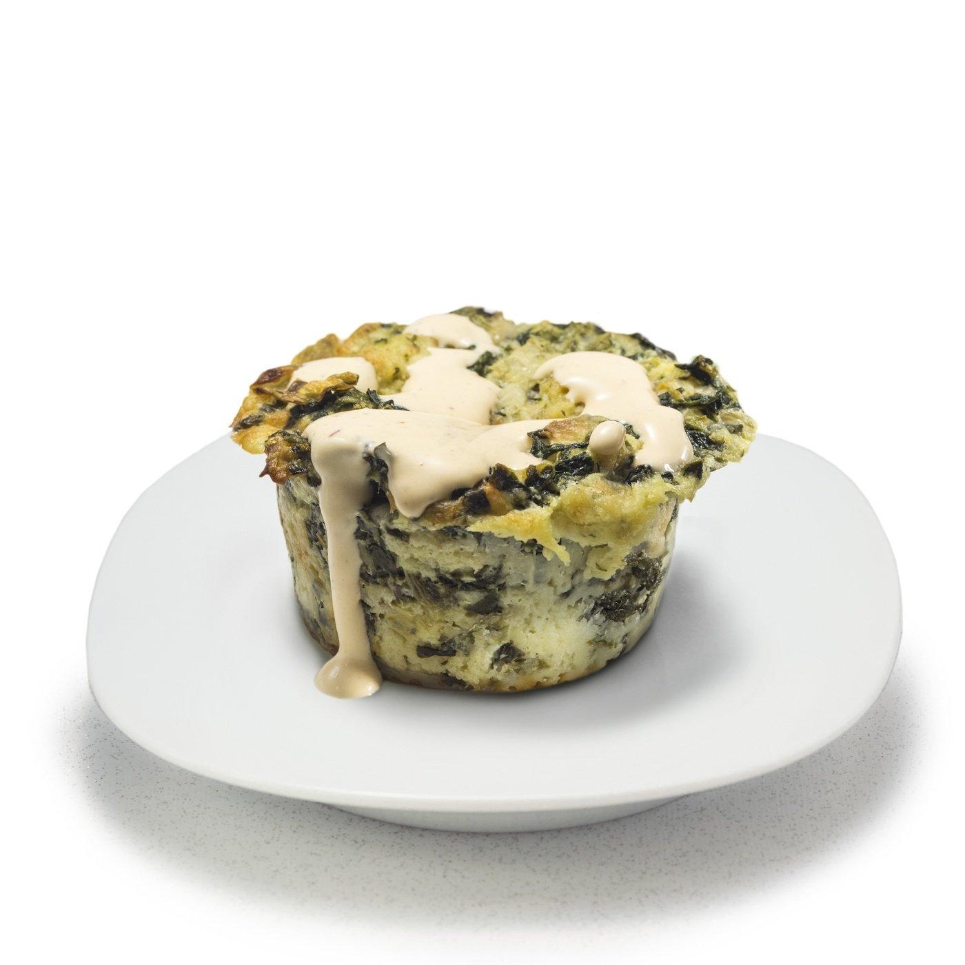 Spinach & Artichoke Bread Pudding